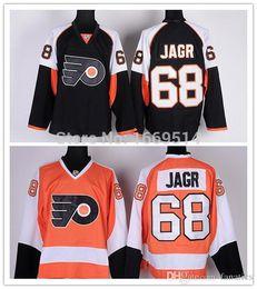 Wholesale Philadelphia Home Jersey - Cheap Men's Philadelphia Flyers #68 Jaromir Jagr Jersey Black Home Orange Ice Hockey Jerseys Shorts Shirts China