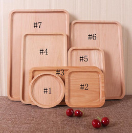 Wholesale Pizza Factory - Wooden Tray Rectangle Beech Wood Fruit Cake Tea Western Dinner Plate Pizza Real Wood Plate Factory Customization Free shipping DHL