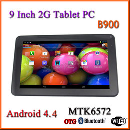 Wholesale Android Quadband - 9 Inch Dual Core Quadband Tablet PC B900 Cheap 2G GSM SIM Card Android 4.4 Phablet ROM 4GB Dual Camera Bluetooth Tablet