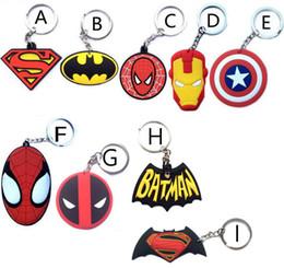 Wholesale Hanging Mask - Superhero Iron Man superman batman spiderman deadpool mask One Direction Zelda KeyChain keyrings bag hangs Movies key rings wedding favors