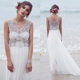 Wholesale Stretch Dress Princess - Vintage Wedding Dresses with v neck and Ruffles,Wedding Dress Beaded Sweep Train Sexy Stretch chiffion Custom Made Wedding Gown Dress 2016