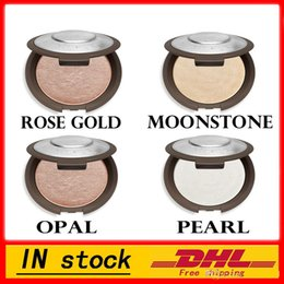 Wholesale Metallic Pearl - 2017 (In Stock )- Becca Shimmering Skin Perfector Pressed Rose Gold Moonstone Pearl Opal Matte Color Bronzer Highlighter Glow Kit Free Shipp