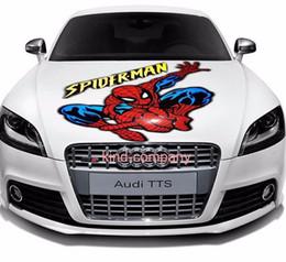 1 stand camión vehical motor racing Automóvil sport power auto spider-man Vinilo Vinyl sticker Hood Calcomanías volando desde fabricantes