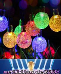 Wholesale Led Yard Lights Christmas - LED Fairy Light,20ft 30 LED Crystal Ball Waterproof Outdoor String Lights Solar Powered Globe Fairy Starry Lights for Garden, Yard, Home MYY