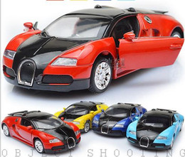 Wholesale Collection Cars - Wholesale-High Quality Model Bugatti Veyron Diecast Car Model With Sound&Light Collection Car Toys Vehicle Gift,Children's Toys