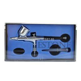 Wholesale Airbrush Gravity - Wholesale-Free Shipping 1 set Action Dual Gravity Feed Airbrush 0.3mm Gun Spray Art Paint Kit Tattoo Nail Tool