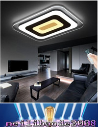 Wholesale Led Features - Dimmable Pendant Light LED Ceiling Light Acrylic Decorative Lampshade Pendant Light with Dimming Feature Romote control MYY