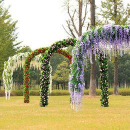 Wholesale hanging vines - 12pcs 70cm Artificial Silk Wisteria Fake Garden Hanging Flower Plant Vine Wedding Party Event Decor