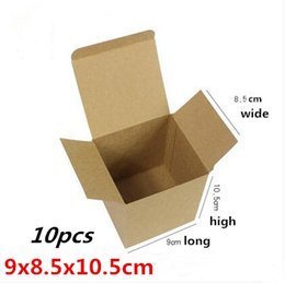 Wholesale Cow Crafts - 9x8.5x10.5cm 30pcs Advanced brown cow card packaging   cube paper box, biscuit box, wine packaging, cosmetics boxes