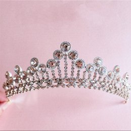 Wholesale Bridal Victorian Tiaras - 2016 Victorian Crystal Beaded Wedding Crowns African Bohemian Bridal Accessory Bride Jewelry Tiaras & Hair Accessories Cheap Free Shipping