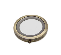 Wholesale Bronze Blanks - Bronze Compact Mirror Blank Cosmetic Makeup Mirrors Great for DIY Deco Gift Favors M070KB FREE SHIPPING