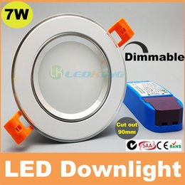 Wholesale Ship Control Pc - New 7W 10W led downlight dimmable recessed ceiling light 120 beam angle AC110V 240V CE SAA C-tick TUV 3 years warranty 30pcs+ free shipping
