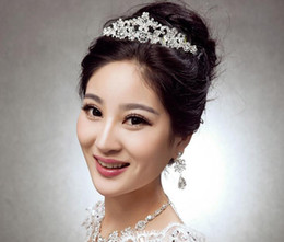 Wholesale Bridal Tiara Hair Crown Butterfly - Crystal Butterfly Crown Wedding Bridal Tiaras Size 16*4CM Party Hair Accessories In Stock 2016 Discount Style