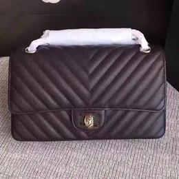 Wholesale International Interior - 2018 BLACK WOMEN FASHION SHOULDER INTERNATIONAL BRAND CHAIN DESIGNER BAG LUXURY 100% REAL LEATHER BAG HANDBAG Caviar SHOULDER BAG
