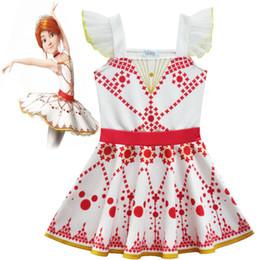 Wholesale Kids Ballerina Costume - white red Cotton Ballet Dance Dress Children Tutu Skirt Ballet Leotard Ballerina Dresses Kids Ballet Costume Clothes For Girl ly