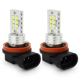 Wholesale H8 High Power Led Bulbs - Super brighter Led bulbs H8 H9 H11 12 LED 12W high power H8 H9 H11 12 SMD LED turn singnal light fog light