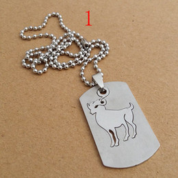 Wholesale Fashion Id Necklaces - Dog Tag Engraved 12 Constellation Pendant Necklace Fashion Stainless Steel ID Dog Tags Jewelry Birthday Gift