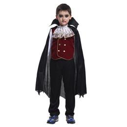 Wholesale Kids Vampire Costumes - Classic Halloween Costumes Cosplay Vampire Costume Kids Halloween Costume for Kids Vampire Cosplay Set Children Clothing