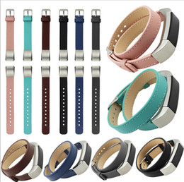 Wholesale Double Tour - For Fitbit Alta Double Tour Genuine Leather Watch Band Strap Bracelet Replacement Wrist Band Strap Wristband DHL free