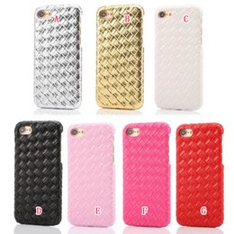 Wholesale Bling Weave - Bling Woven Snake Croco Hard Case For Iphone 7 I7 Plus Iphone7 6 6S SE 5 5S Veneer Gluing Crocodile Leather Hybrid Skin Phone Cover 100pcs