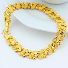 brazalete de tungsteno de las mujeres Rebajas Graceful Womens Pulsera de oro amarillo de 18 k lleno de cadena de la muñeca