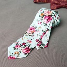 Wholesale Gravatas Slim - New Fashion Floral Ties For Men Skinny Mens Ties Gravatas Slim Corbatas Vestidos Wedding Cotton Groom Neck Tie Cravat Necktie