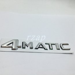 Wholesale Car Emblem R - For Mercedes 4Matic Letter Logo Rear Trunk Emblem Sticker For Benz W124 W210 C E CL CLS R Car Styling Badge Decal