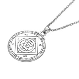 Wholesale Good Luck Coins - Talisman For Good Luck Key of Solomon Pentacle Seal Pendant Hermetic Enochian Kabbalah Pagan Wiccan Jewelry Amulet Necklace