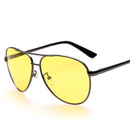 Wholesale Vision Safety Glasses - 2016 Wholesale Brand Designer Night Driving Glasses Anti Glare Vision Driver Safety Sunglasses Protective Goggles Glasses oculos de sol