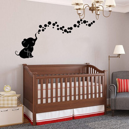 Arte de la sala de juegos online-Elefante lindo Burbujas DIY Vinilo Wall Art Sticker Nursery Decal para Baby Room Niños Sala de juegos Home Ornament Toddler Shower Gifts Wholesale