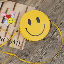 Wholesale Smile Wallet - Fringed Single Shoulder Bag Circular New Design Zipper Yellow Smiling Face Emoji Wallet Ladies Outdoors Shopping Printing Purse 118xcC R