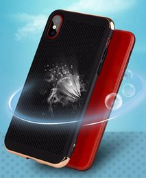 Wholesale Hard Spray - Hollow Heat Dissipation Case 3 in 1 Plating Electroplate Hard PC Shcokproof Protective Spray Cover For iPhone X 8 7 Plus 6 6S Samsung S8