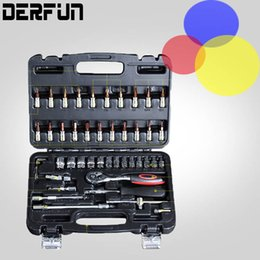 Wholesale Combination Tools Set - 46--150pcs Spanner Socket Sets Car Repair Tool Ratchet Wrench Set Cr-v hand tools Combination Bit Set Tool Kit
