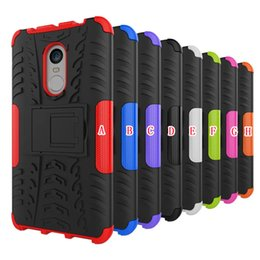 Wholesale xiaomi hongmi cover - Hybrid Armor Kick Stand Hard PC + TPU Case For Xiaomi Hongmi Redmi Note 4 Huawei Y3 Y5 II Tire Tyre Ballistic Shockproof Football Skin Cover