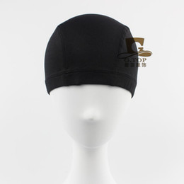 Wholesale Wholesale Biker Caps - Spandex Dome Cap 2016 New fashion Sports Biker FootBall Beanie Hat Turban Women's Hat free shipping