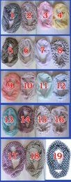 Wholesale Chevron Infinity - Fashion Chevron Wave Print Scarf Circle Loop Cowl Infinity Scarves Ladies Scarves Voile Multi color printing woven scarf Women