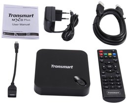 Wholesale Xbmc Tv Box - New Tronsmart MXIII Plus 2G 8G Amlogic S812 Quad Core 2.0GHz Android TV Box 4K H.265 XBMC OTA 2.4G 5GHz Dual WiFi IPTV Media Player