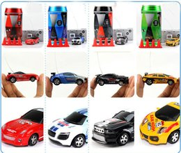 Wholesale Toy Cars Minis - Free Epacket color Mini-Racer Remote Control Car Coke Can Mini RC Radio Remote Control Micro Racing 1:64 Car 8803 children toy Gift