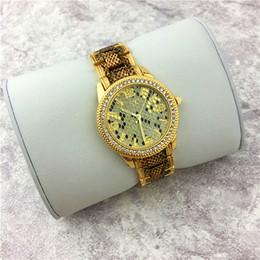 Wholesale Leopard Gold Watch - High Quality Fashion Women watch Leopard Gold Charisma Stainless steel Luxury Lady watch Sexy Style Quartz Nobel Female Quartz free shipping