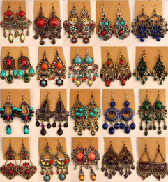 Wholesale Vintage Style Chandelier Earrings - Unique national style earring,various shapes, Bohemian China Miao, vintage style earring, free shipping and hign quality