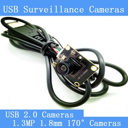 Wholesale Cmos Camera Lens Module - 1.3MP Surveillance cameras 720P HD 1.8mm lens 170-degree wide viewing angle USB2.0 camera module