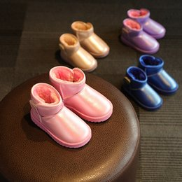Wholesale Cheap Baby Winter Boots - baby Snow Boots Cheap Kids Shoes Unisex Boots Warm Stable Winter waterproof bootie Shoes 4 colors C1591
