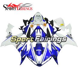 Wholesale Yamaha R1 White Body Kit - Injection ABS Fairings For Yamaha YZF R1 YZF-R1 2004 2005 2006 04 05 06 ABS Motorcycle Kit Bodywork Motorbike Cowlings Blue White Body Kits