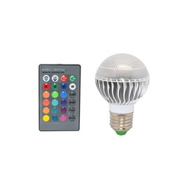 Wholesale Ir Light Bar - 1pcs E27 16 Colors Changing Dimmable 9W 15W RGB LED Light Bulb with IR Remote Control for Bar Party KTV Mood Ambiance Lighting