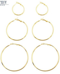 Wholesale Girl Huge - Free Shipping New fashion jewelry huge hoop earrings set 1lot=3pairs gift for women girl E3314 wholesalers