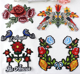 Wholesale Quilt Lined - The new hot national fan style bird embroidery line cloth paste DIY decoration clothes patch clothing accessories embroidery embroidery