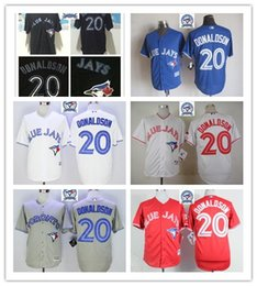 Wholesale Majestic - 2017 Majestic Official Cool Base MLb Stitched 40th Toronto Blue Jays 20 Josh Donaldson White BLue Red Gray Black Jerseys Mix Order