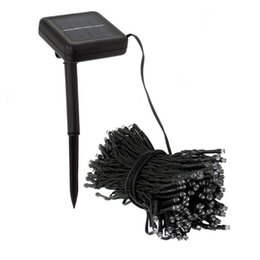 Wholesale Solar Lights Outdoor Wedding - Wholesale-200 LED Solar Christmas Light Outdoor Garden Light String for Holiday Wedding Party Decoration Fairy Strip Lamp