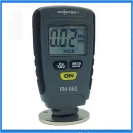 Wholesale Digital Coating Thickness - Wholesale-RM660 Paint Coating Thickness Gauge Digital Meter Instrument Tester 0-1.25mm Iron Aluminum Base Metal Car Automotive Measure