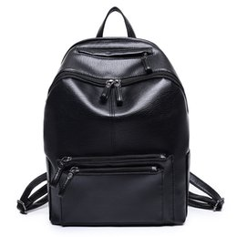 Wholesale Top Girls Backpack - Women Backpack High Quality PU Leather Mochila Escolar School Bags For Teenagers Girls Vintage Top-handle Backpacks